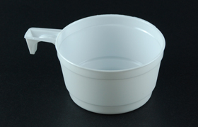 disposable plastic coffee cup